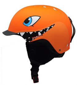 BeBeFun Kids and children ski skate snowboard snow sports Helmet with removable Mini Visor age 3 ...
