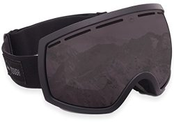 Ski & Snowboard Goggles – Dual-Layer Lens Snow Goggles for Skiing, Snowboarding, Motor ...