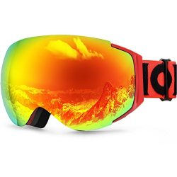 Zionor X10 Ski Snowboard Snow Goggles OTG for Men Women Youth Anti-fog UV Protection Helmet Comp ...