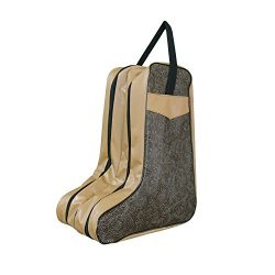 Drware Shoes Bag Boot Bag Portable Boot Bag Boot Storage For Women (Dark brown)