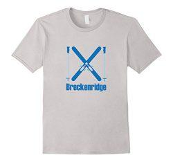 Mens Colorado Snow Ski & Ski Poles – Breckenridge T-Shirt Medium Silver