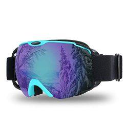 Lixada Ski Goggles,Snowboard Goggles UV Protection Anti-Fog Snow Goggles Helmet Compatible Spher ...