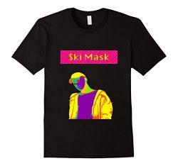 Mens Mask logo Rap style Tee Small Black
