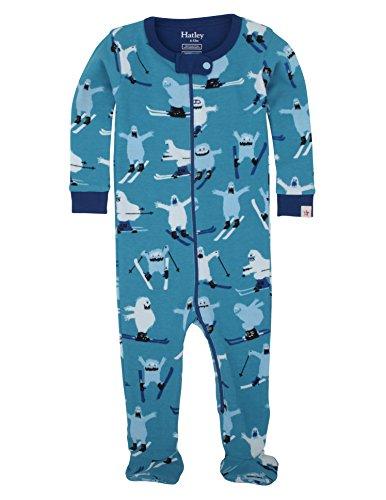 Hatley Boys' Footed Coverall, Ski Monsters, 6-12