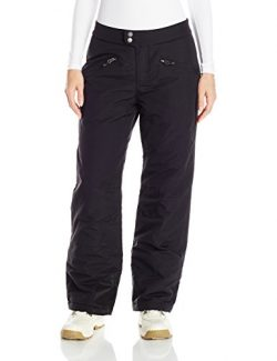 White Sierra Women's 29″ Inseam Toboggan Insulated Pants, Black, Small