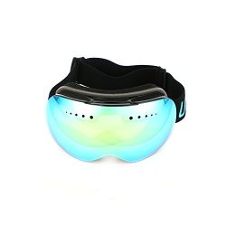 WeePro Frameless Ski Goggles for Snowboard–Optical and Anti-fog Snow Goggles for Men,Women(Gold  ...