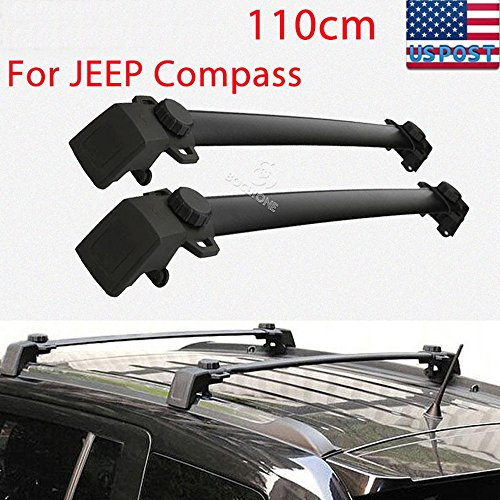 Kayak Jeep Rack Pair Roof Rack Cross Bars Fit 2011-2014 Jeep Compass Luggage Ski Kayak Carrier