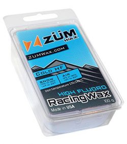 ZUMWax HIGH FLUORO Ski/Snowboard RACING WAX – COLD Temperature – 100 gram – IN ...