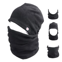 TRIWONDER Balaclava Hood Hat Thermal Fleece Face Mask Neck Warmer Full Face Cover Cap Winter Ski ...
