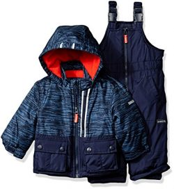 Osh Kosh Baby Boys Ski Jacket and Snowbib Snowsuit Set, Current Navy, 12M