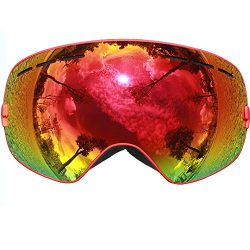 COPOZZ Ski Goggles, G1 Mens Womens Ski Snowboard Snowboarding Goggles – Over Glasses Doubl ...