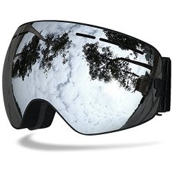 Samdo Snow Skate Ski Goggles Ski Eyewear with Mirror Coating Anti-Fog and UV 400 Protection Lens ...