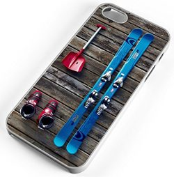 iPhone Case Fits iPhone 8 PLUS 8+ Ski Equipment Skies Skiing Snow Shovel Ski Boots Clear Plastic