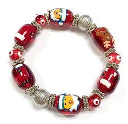Linpeng Christmas Bracelet 13x17mm Santa, Santa's Hat, Ski Boots, Christmas Stocking Reind ...