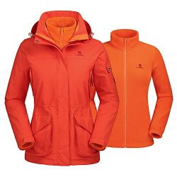 Camel Women's Interchange 3-in-1 Active Outdoor Sports Jacket Color Orange Size L