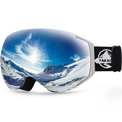 YAKAON Y Series Ski Goggles Snowboard Frameless Spherical UV Protection Anti-fog Lens for Men Women