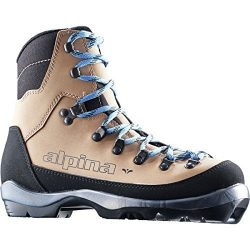 Alpina Sports Women's Montana Eve Backcountry Cross Country Nordic Ski Boots, Brown/Black/ ...