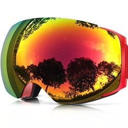 Zionor X4 Ski Snowboard Snow Goggles Magnet Dual Layers Lens Spherical Design Anti-fog UV Protec ...