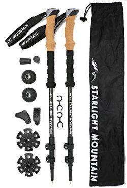 Starlight Mountain Outfitters Trekking Poles – Lightweight Carbon Fiber 6.8 oz ea, Collaps ...
