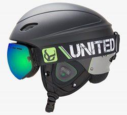Phantom Helmet with Audio and Snow Supra Goggle (Black, Large)