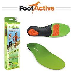 FootActive SPORTS Insoles – High Impact Full Length Advanced Orthotic Arch-Support Insoles ...