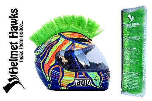 Helmet Hawks Motorcycle Helmet Mohawk w/Sticky Velcro Adhesive – Fluorescent Lime Green
