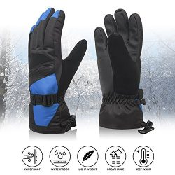 Womens Winter Waterproof Ski Gloves The Warmest 3M Insulation Outdoor Windproof Snowboarding Mit ...