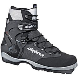 Alpina BC-1550 Back-Country Nordic Cross-Country Ski Boots, for use with NNN-BC Bindings, Black/ ...