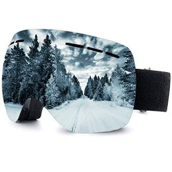 OTG Best Ski Goggles Frameless 100% UV400 Protection Snow Goggles for Men & Women teens anti ...