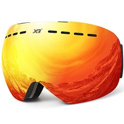 Ski goggles, Men Women Snowboard goggles Over Glasses OTG Anti fog Frameless For Jet Snow By Dad ...