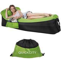 Quickcity Inflatable Couch Hammock Inflatable Lounger Air Sofa – Perfect Pouch Couch Summe ...