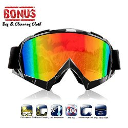 Atv goggles, Motocross Goggles Motorcycle Dirt Bike Ski Goggles Windproof Scratch Resistant Comb ...