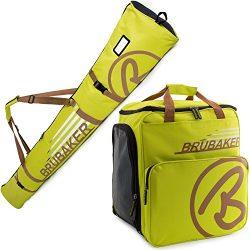 BRUBAKER Champion Combo – Limited Edition – Ski Boot Bag and Ski Bag for 1 Pair of S ...