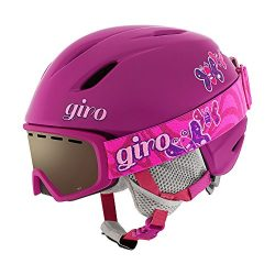 Giro Launch Youth Helmet/Goggle Combo Pack Berry Butterfly S