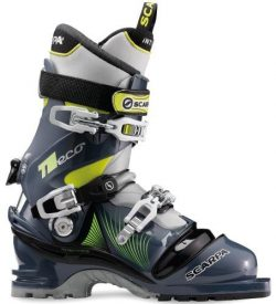 Scarpa T2 Eco Ski Boots (Blue Graphite/Yellow, 31)