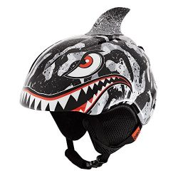 Giro Launch Plus Kids Snow Helmet Black / Grey Tiger Shark S (52-55.5cm)
