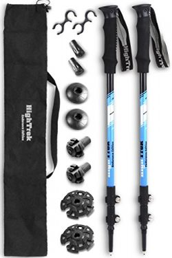 High Trek Ultralight Trekking Poles w/Sweat Absorbing EVA Grips – 2 pc Pack – Your C ...