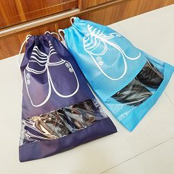 M-jump 4 Pack Shoe Storage Bags Waterproof Nonwoven fabric with Drawstring For Men and Women  ...