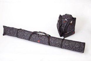 Athalon 312/135 Set Deluxe Boot Bag & Single Ski Bag (2 Piece), Night Vision