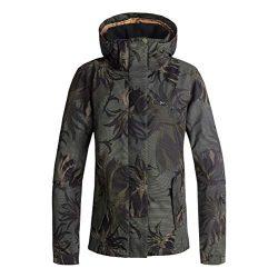 Roxy Snow Junior's Jetty Jacket, Four Leaf Clover_SWELL Flowers, M
