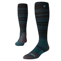 Stance Mens Backcountry Ultra Light Glacier Snow Socks (Black, Large)