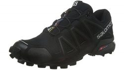 Salomon Men's Speedcross 4 Trail Runner, Black A1U8, 9.5 M US