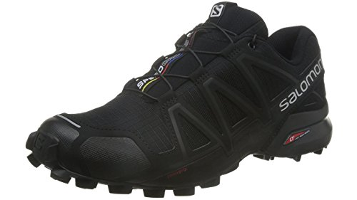 Salomon Men's Speedcross 4 Trail Runner, Black A1U8, 9.5 M US