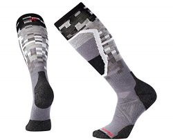 SmartWool Men's PhD Ski Medium Pattern Socks (Graphite) Large