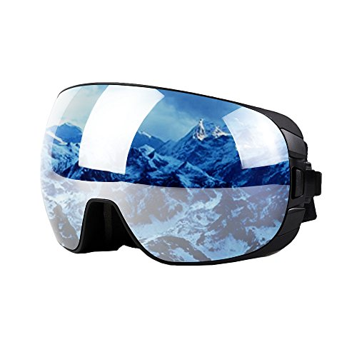 Unilamp Ski Goggles, Snowboard Goggles PRO – Frameless Detachable Lens Anti-Fog UV Protect ...