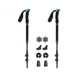 vicelecus Trekking Poles – Collapsible Ultralight Hiking Walking Sticks with Quick Lock &a ...
