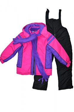 Snowsuits for Kids Girl's 3-Piece Fleece Lined Active Snowsuit (5-6, Fuschia/Berry Purple)