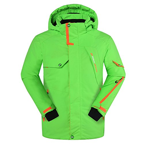 PHIBEE Big Boy's Waterproof Breathable Snowboard Ski Jacket Green 8