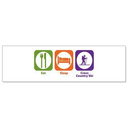 Car Bumper Sticker – Eat Sleep Cross Country Ski