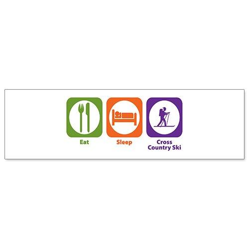 Car Bumper Sticker – Eat Sleep Cross Country Ski